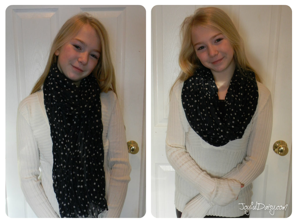 how to make a scarf into an infinity scarf