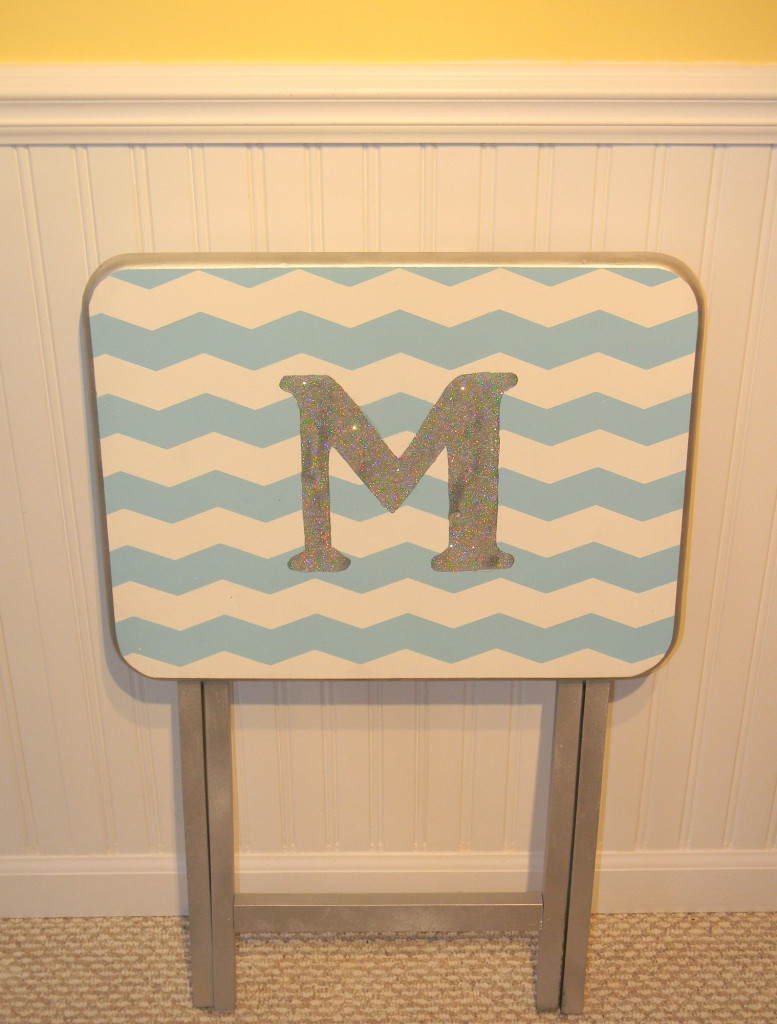 painted chevron table