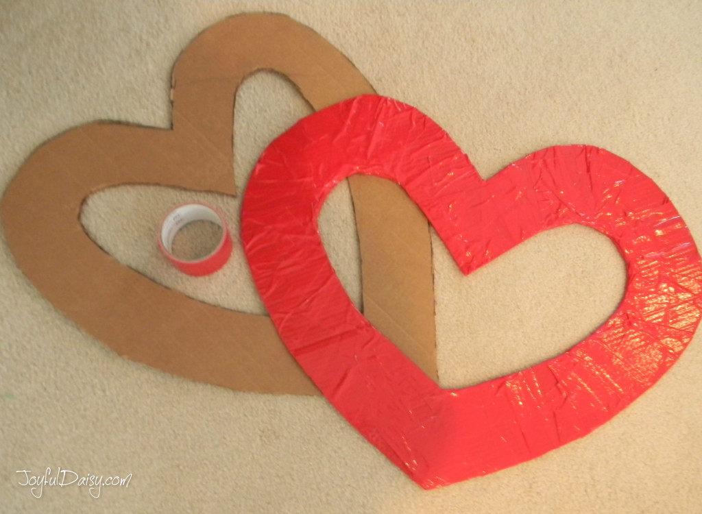 Heart covered in duck tape