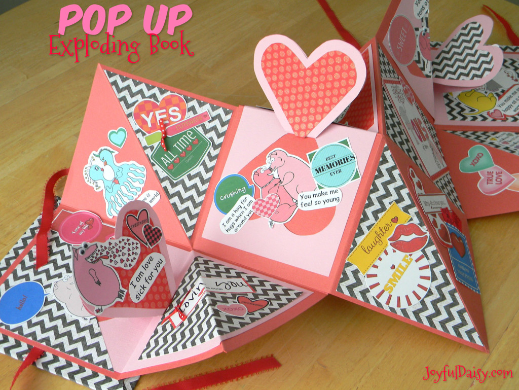 POP UP exploding  valentine book lighter