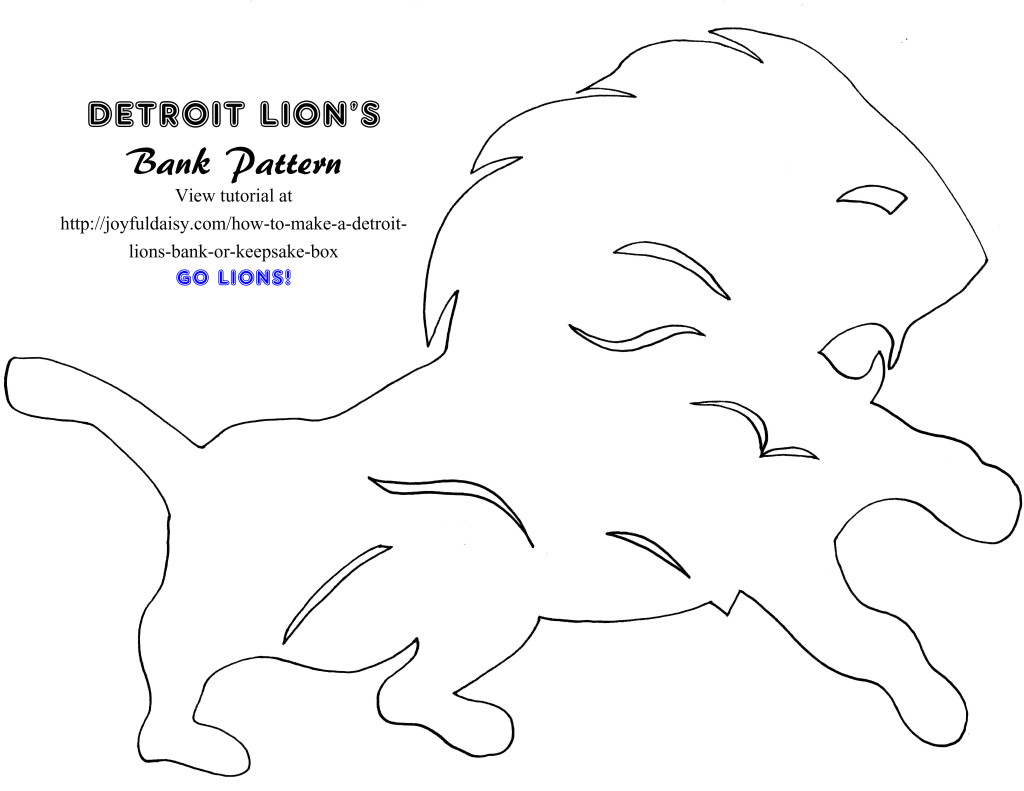detroit lions bank pattern