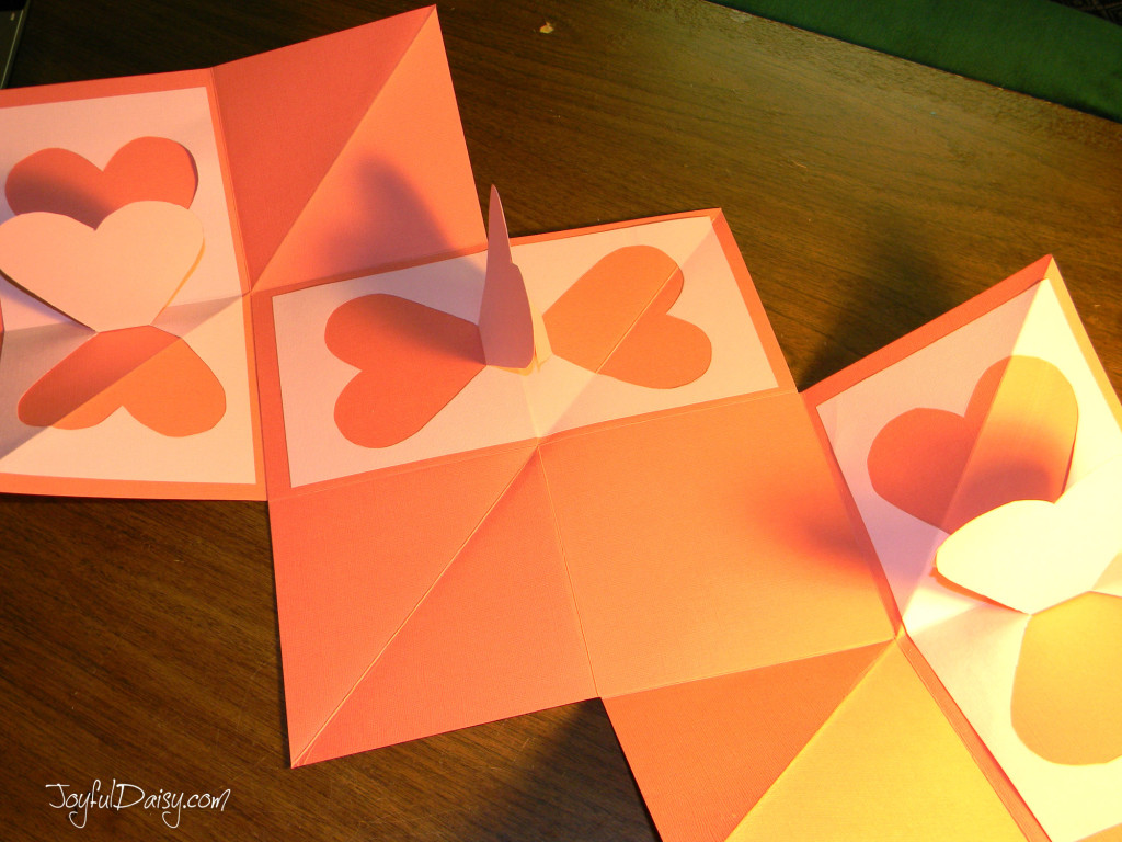 heart pop up book folds