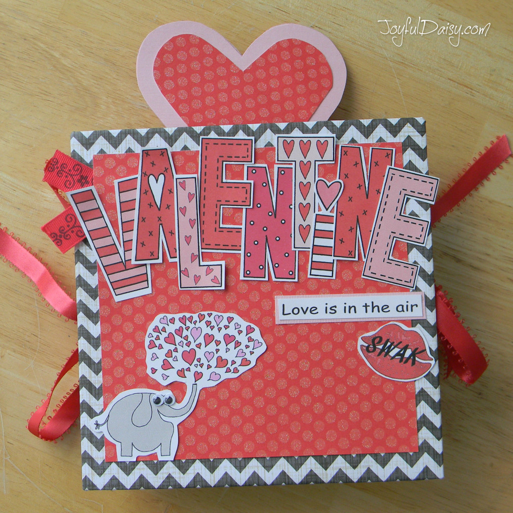 pop up exploding book valentine cover