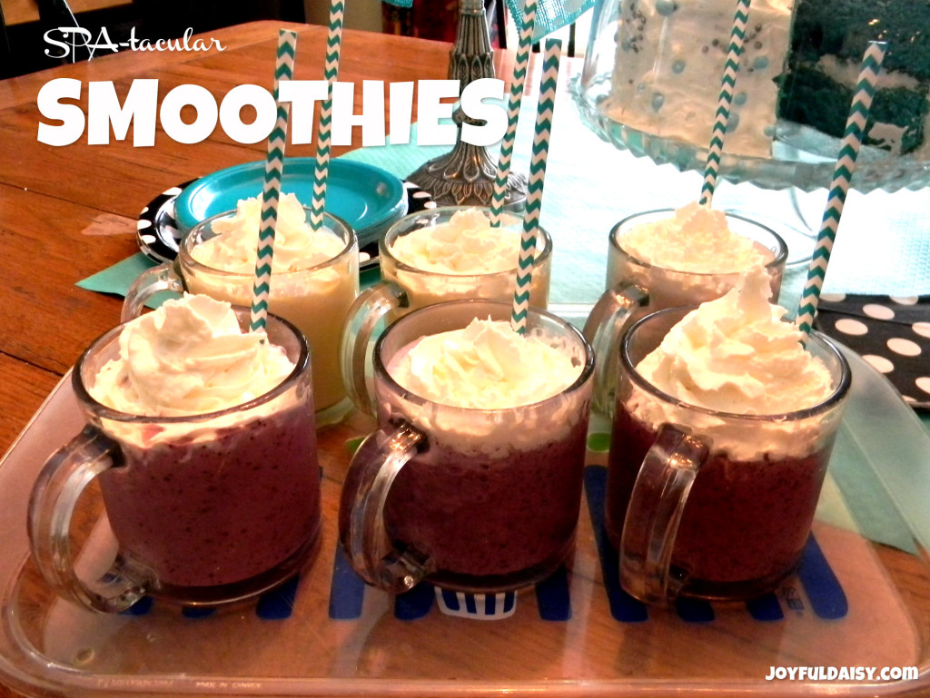 spa party smoothie drinks