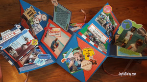 How to make a pop up exploding book for Mackinac Island vacation