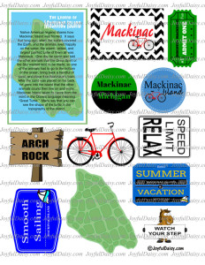 Mackinac Island Scrapbook Page 3