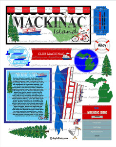 Mackinac Island Scrapbook Stickers Page 1