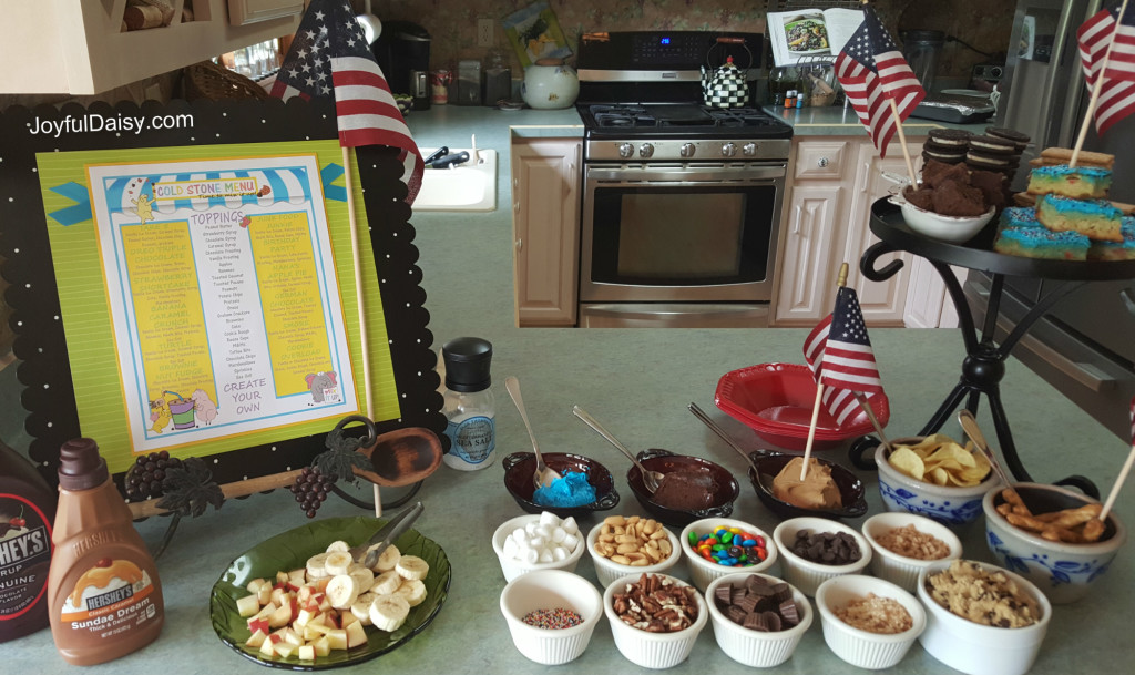 Ice Cream Social Sundae Bar