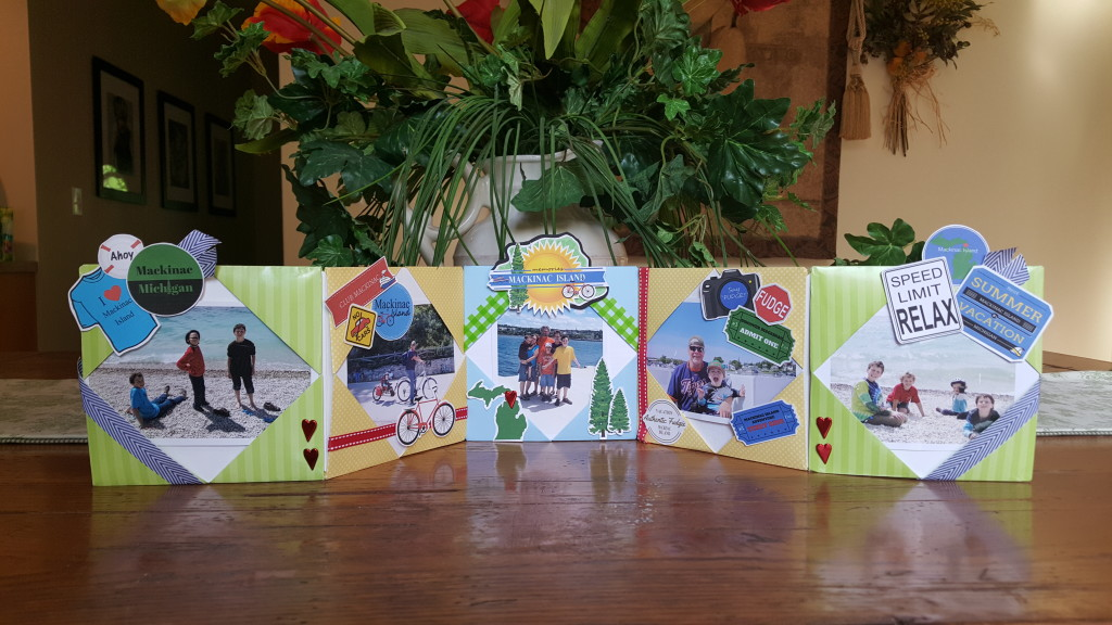 stand up scrapbook for Mackinac Island vacation