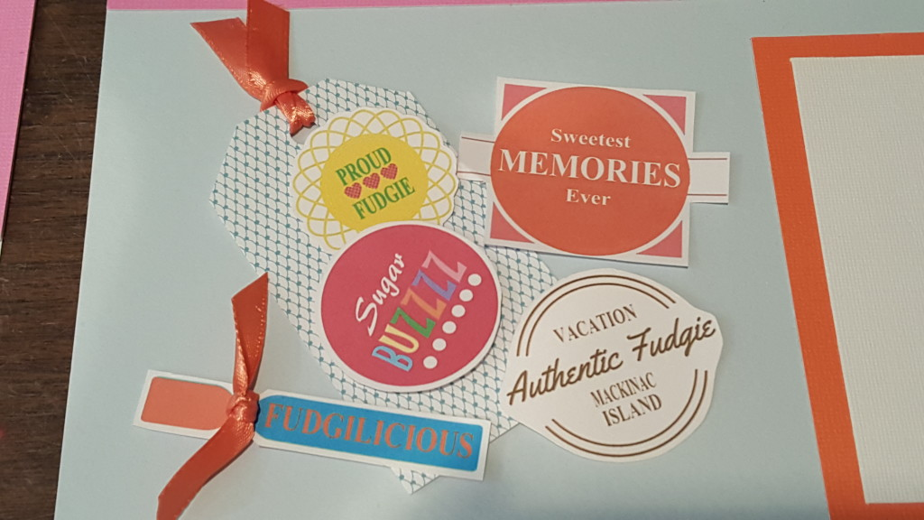 Mackinac Island fudge scrapbooking tags