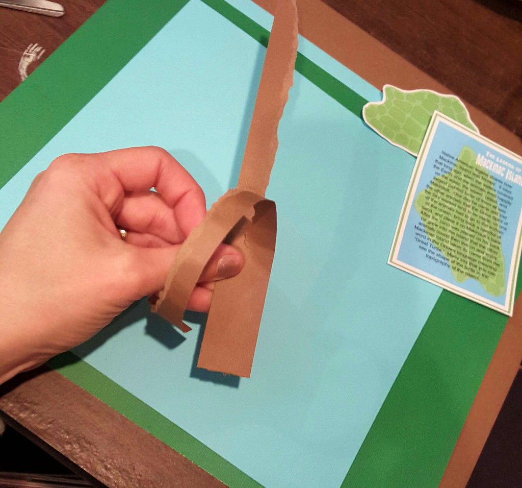 How to tear paper for scrapbook pages