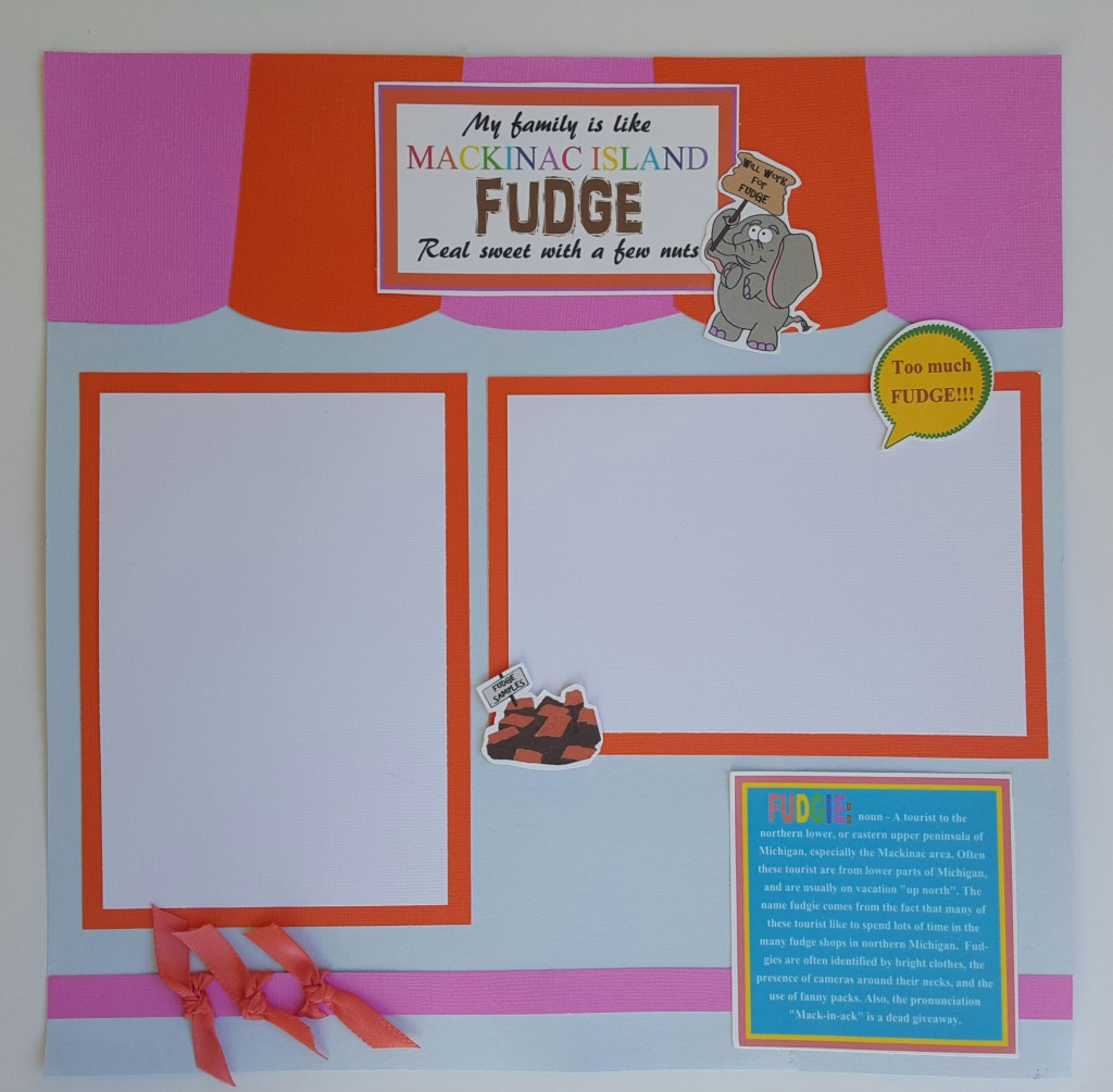 Mackinac Island Fudge Shop Scrapbook Page