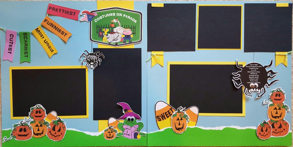 Halloween costumes on parade scrapbook pages