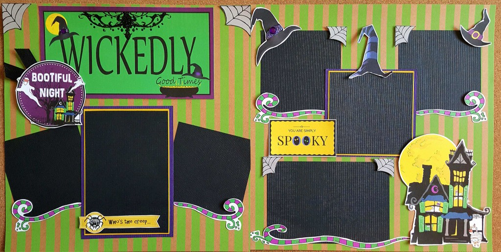 Witch scrapbook pages