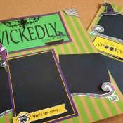Wickedly Good Times halloween scrapbook pages
