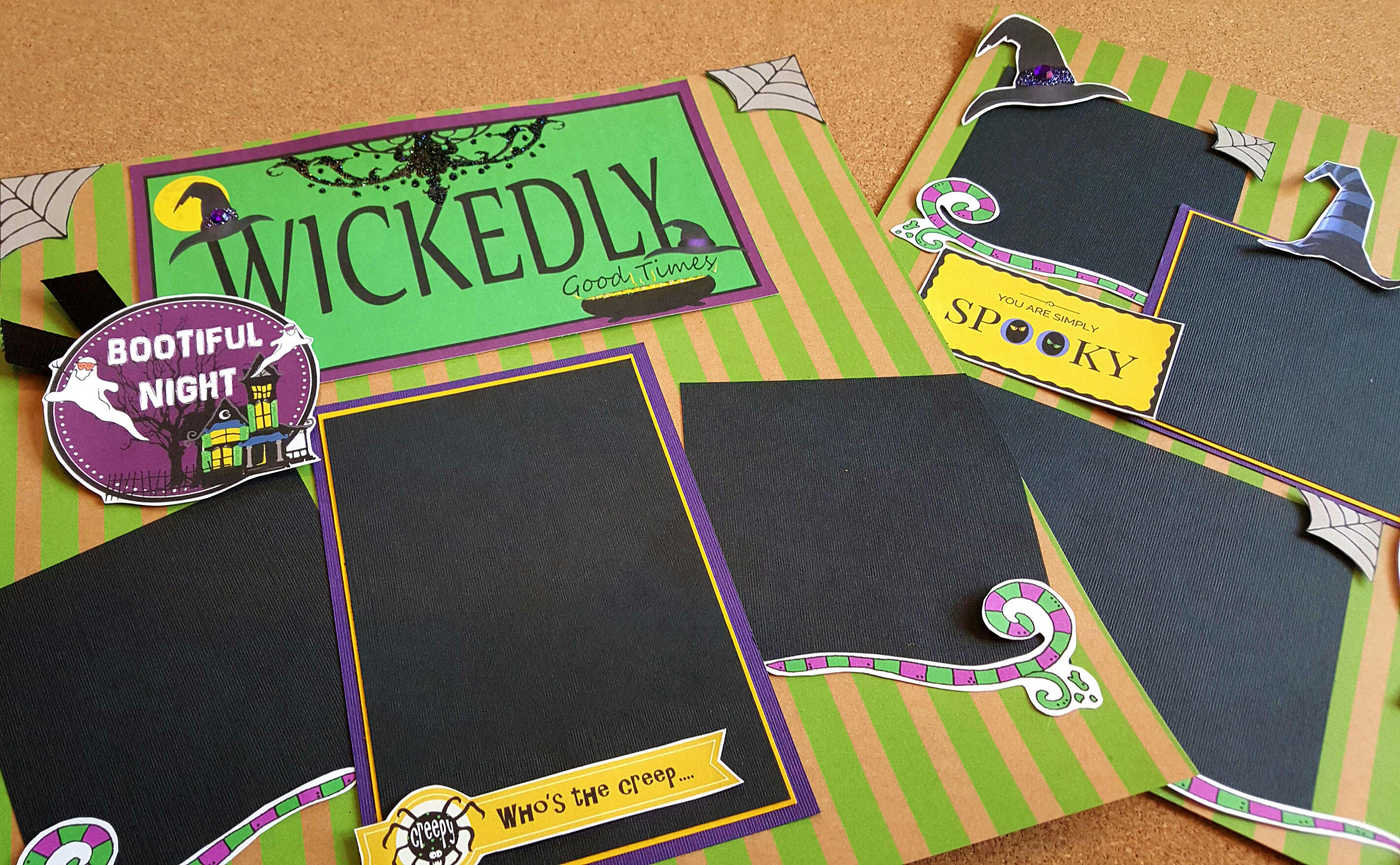 How to scrapbook good - Wickedly Good Times Halloween Scrapbook Pages