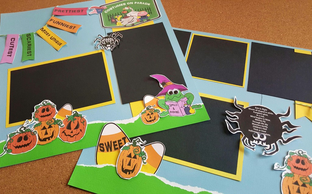 Costumes on parade halloween scrapbook pages