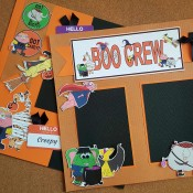 boo crew halloween scrapbook pages