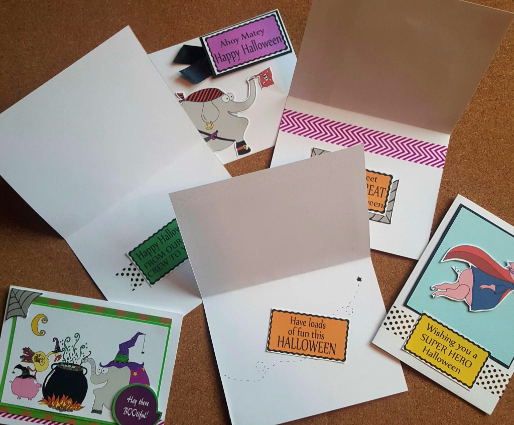 Homemade halloween cards and sentiments