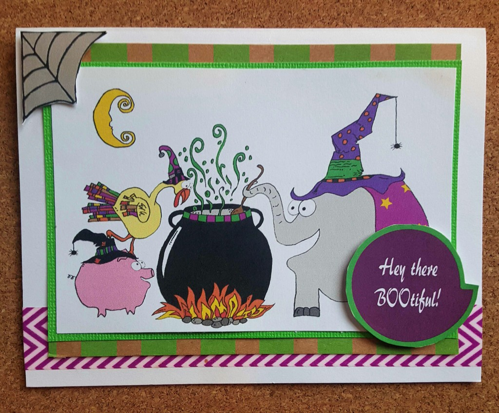 Animal Friend Witches Halloween Card