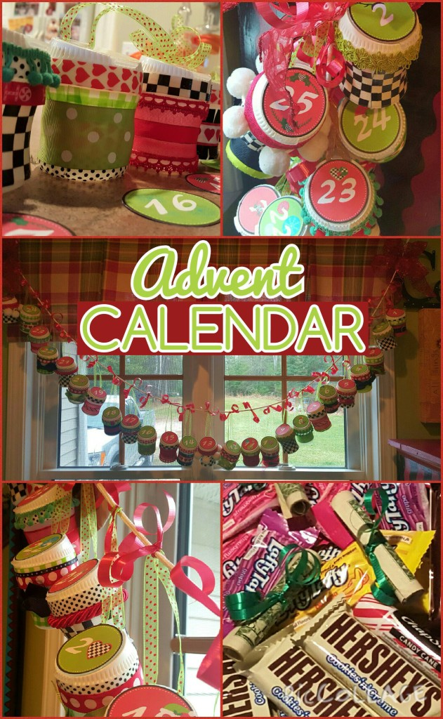 advent calendar, easy with recycled gum containers