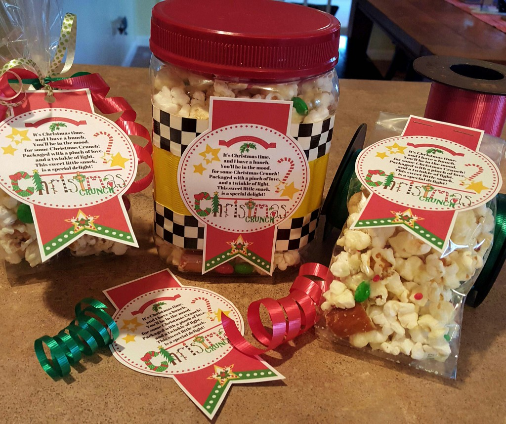 Christmas Crunch Gifts and Labels