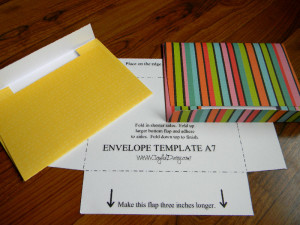 A7 Envelope template and bright samples