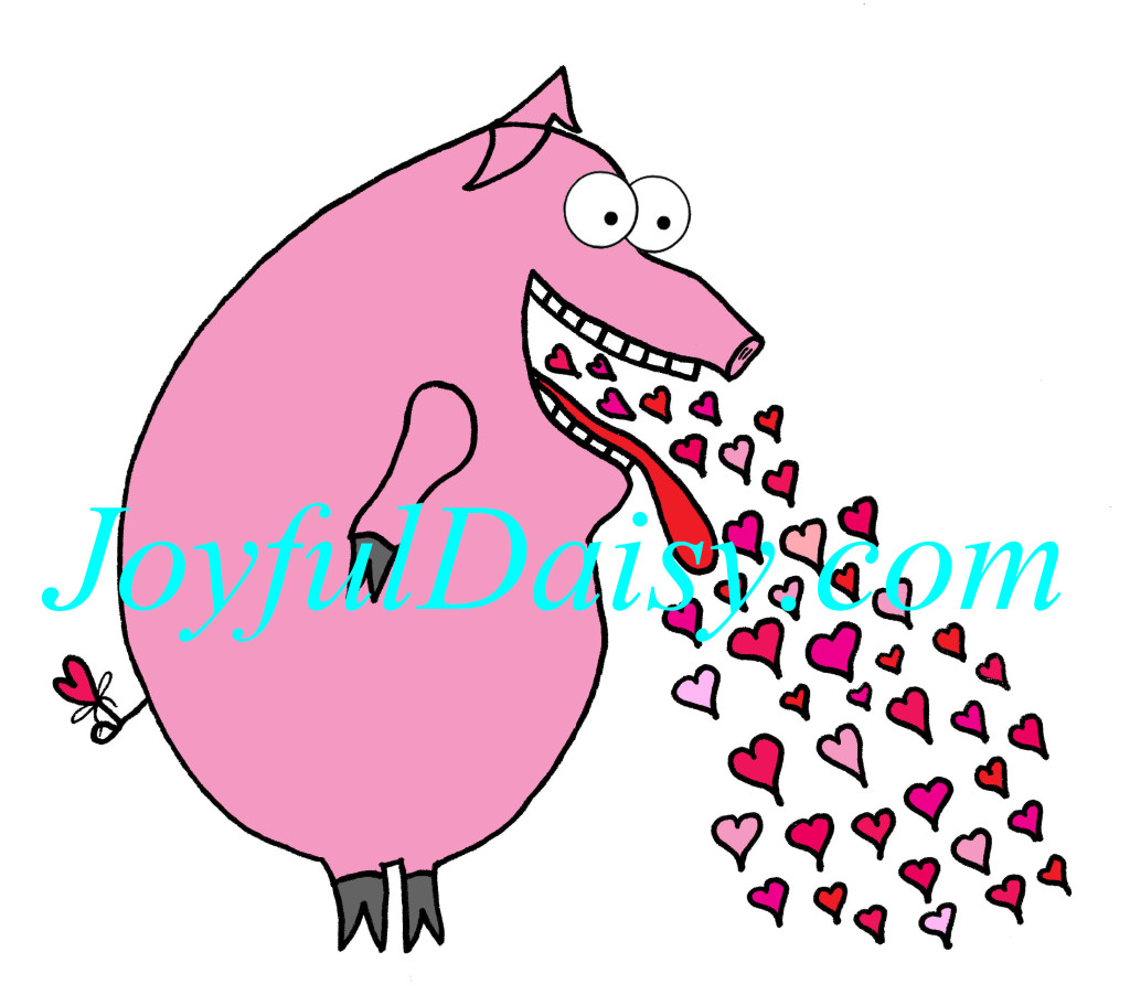 Love sick piggy coloredWATERMARKED