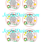Christmas Crunch Large Round Labels WATERMARKED