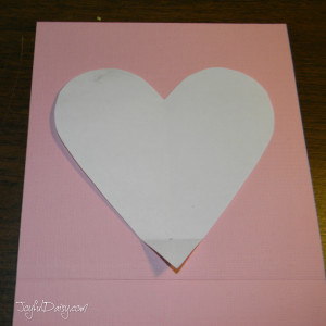 Step one pop up heart book
