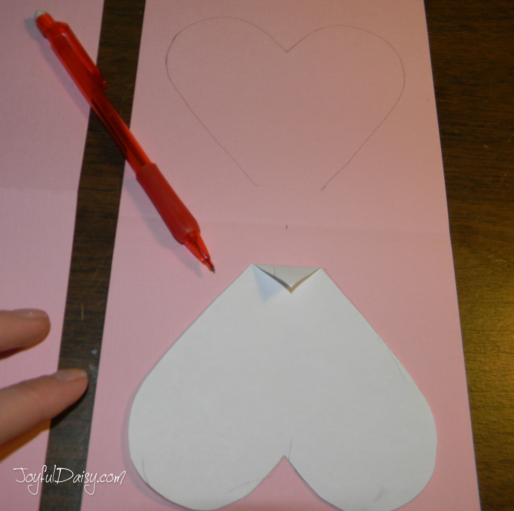 step two pop up heart book