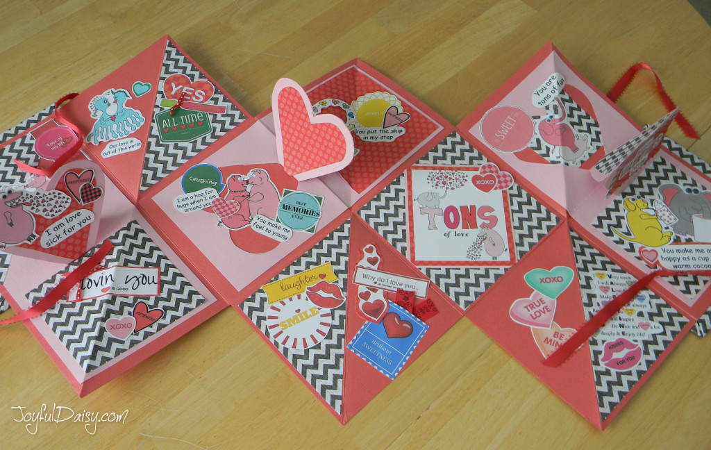valentine pop up book