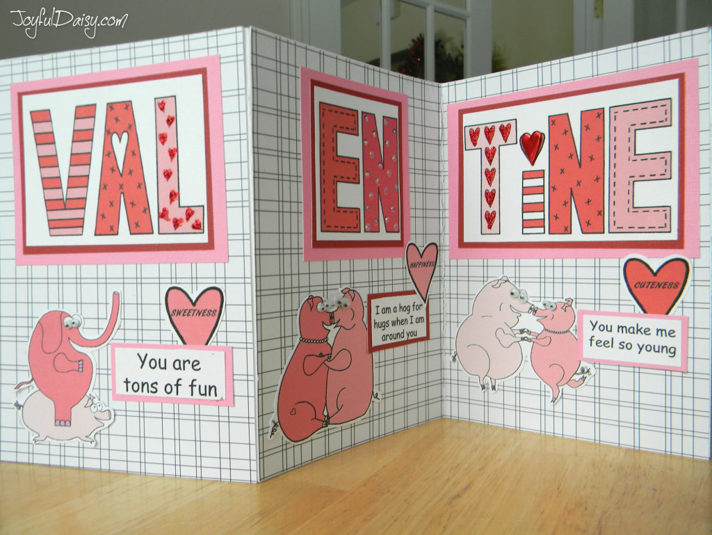 valentine tri fold piles of smiles card