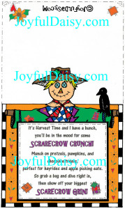 Scarecrow Crunch Craft Label Computer COLORED