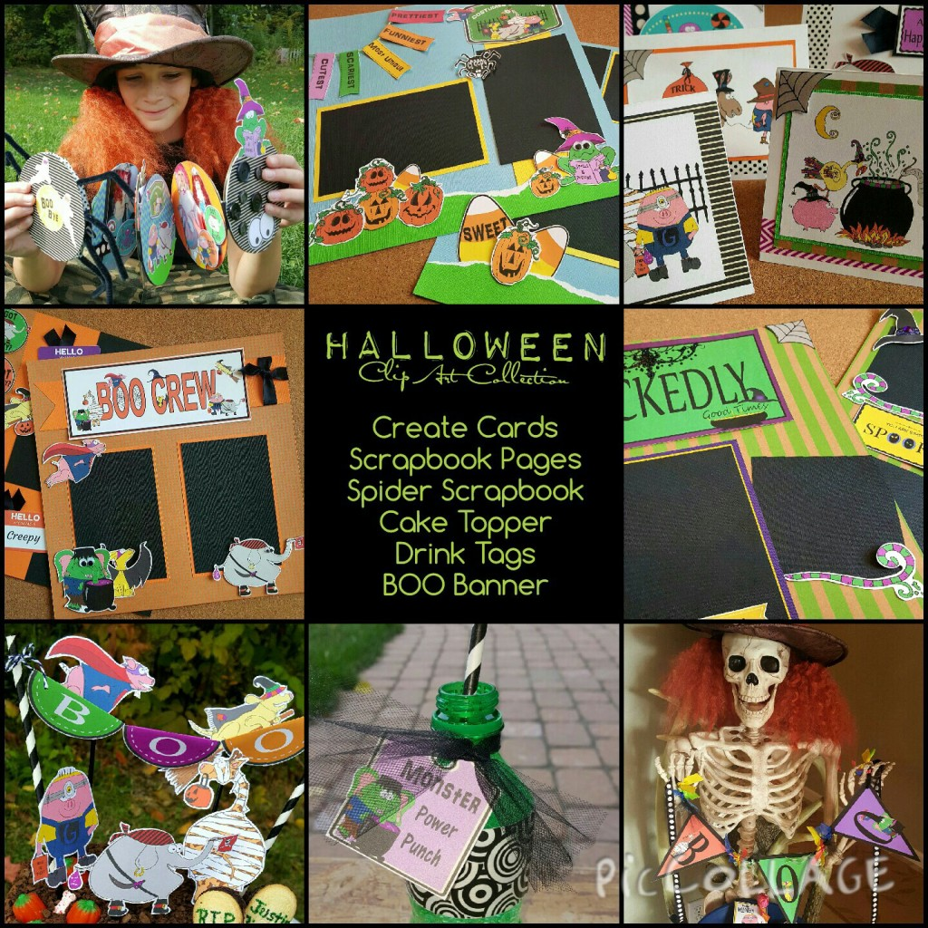 Halloween Clip Art Collection Collage