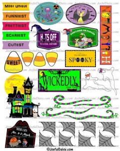 Halloween clip art minis and swirls