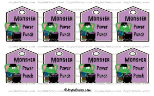 monster power punch tags