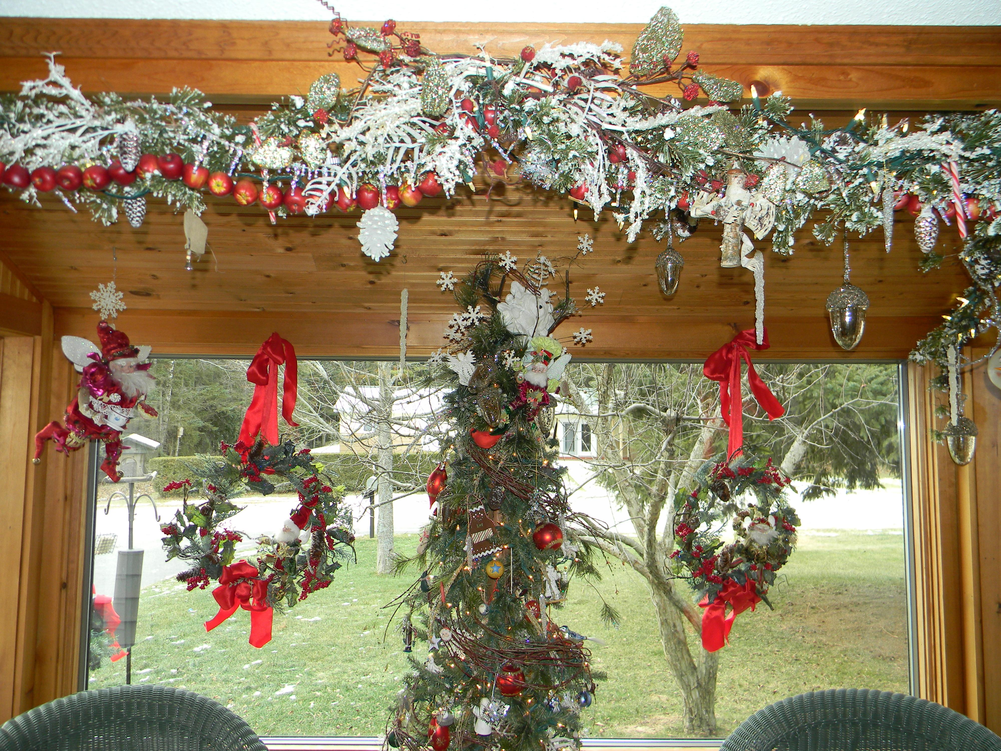 icy winter wonderland decorations christmas tree and chandelier joyful daisy