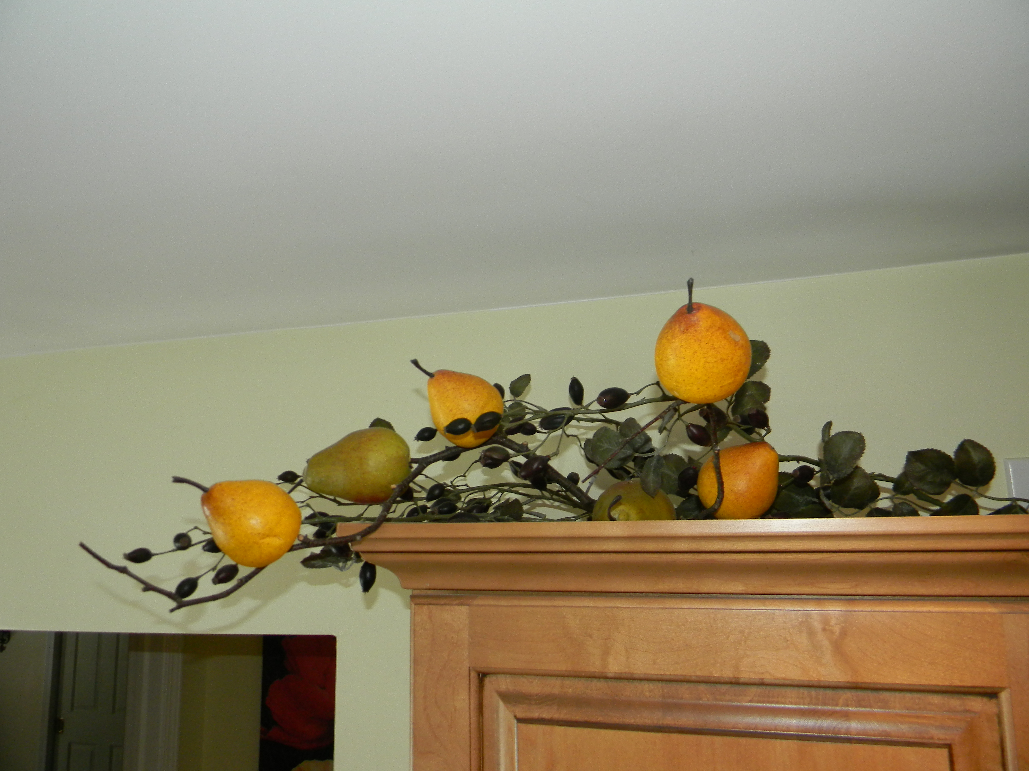 Garland For Above Kitchen Cabinets