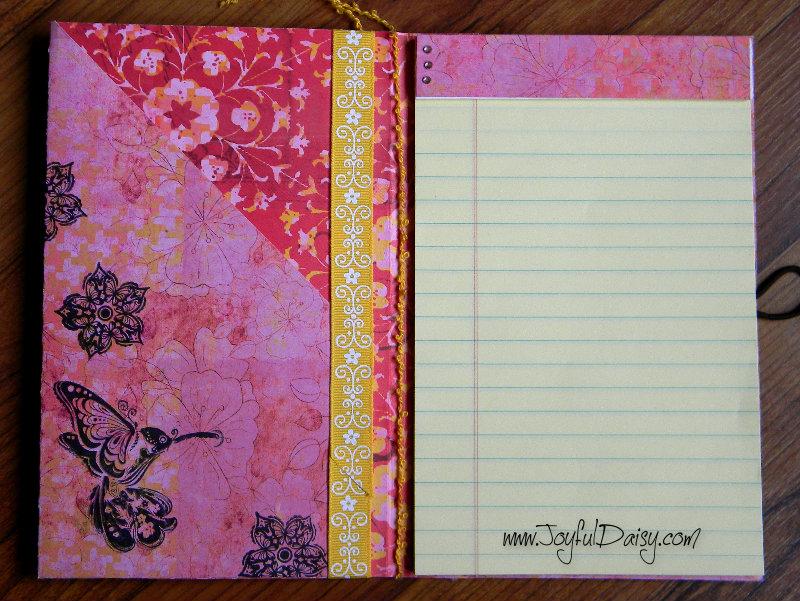 Paper notebook cover tutorial template joyful daisy notebook cover inside red mightylinksfo