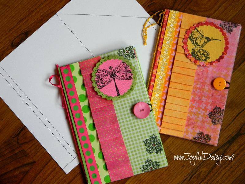 paper notebook cover tutorial template joyful daisy