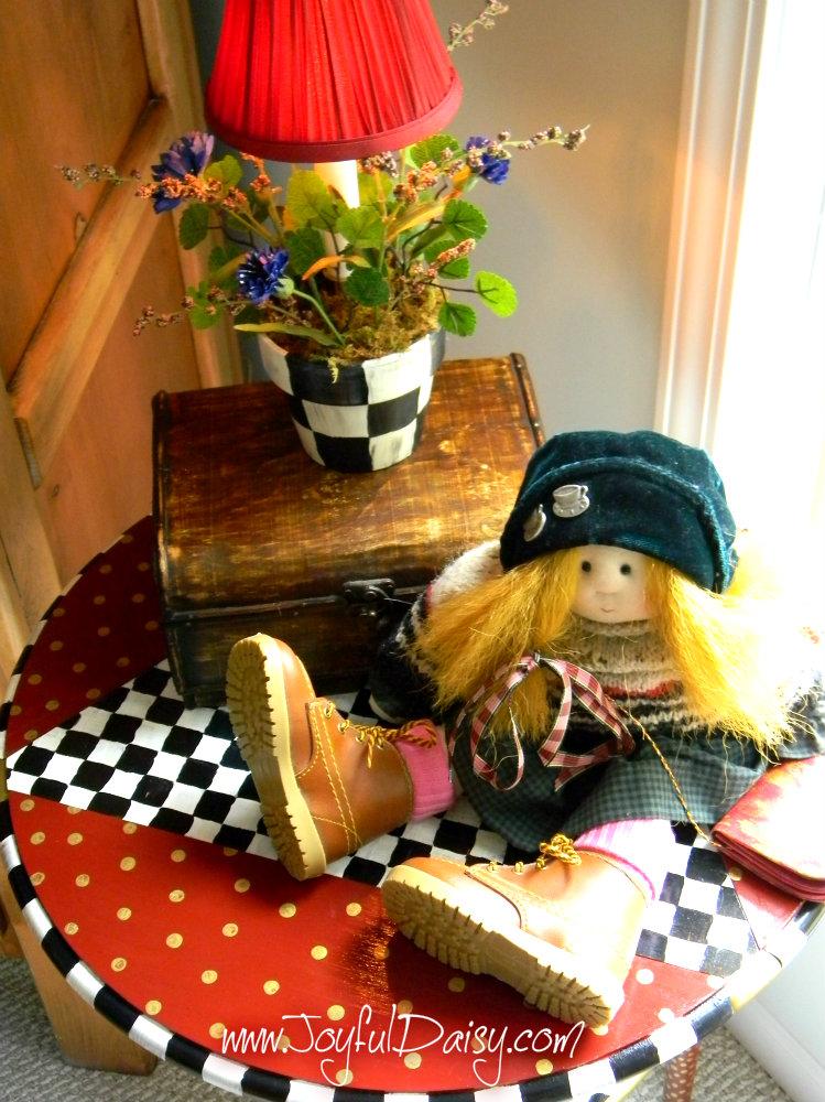 Mackenzie Childs Inspired Accent Lamp Joyful Daisy