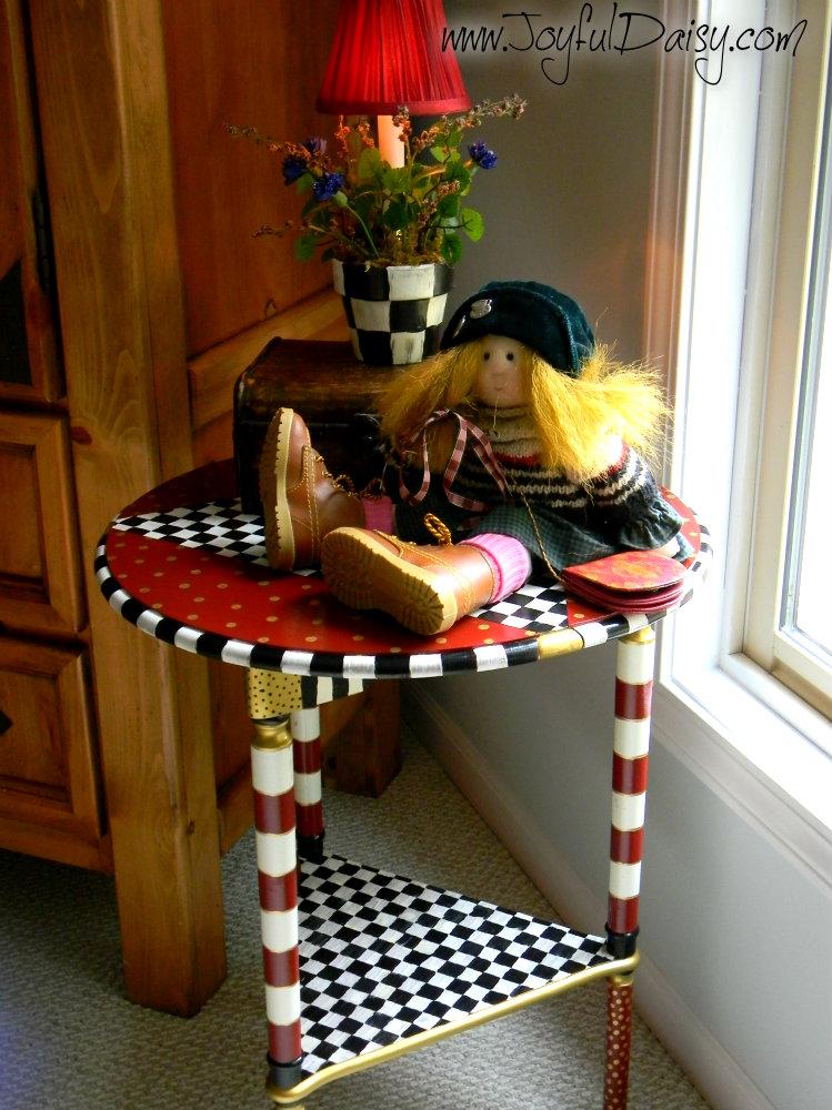 Mackenzie Childs Knock Off Table Joyful Daisy