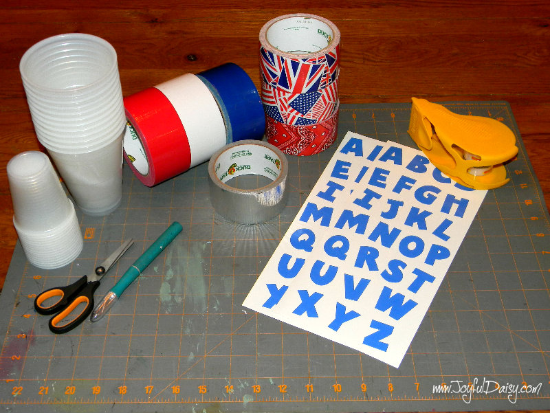Duck Tape Party Ware | White Lights on Wednesday