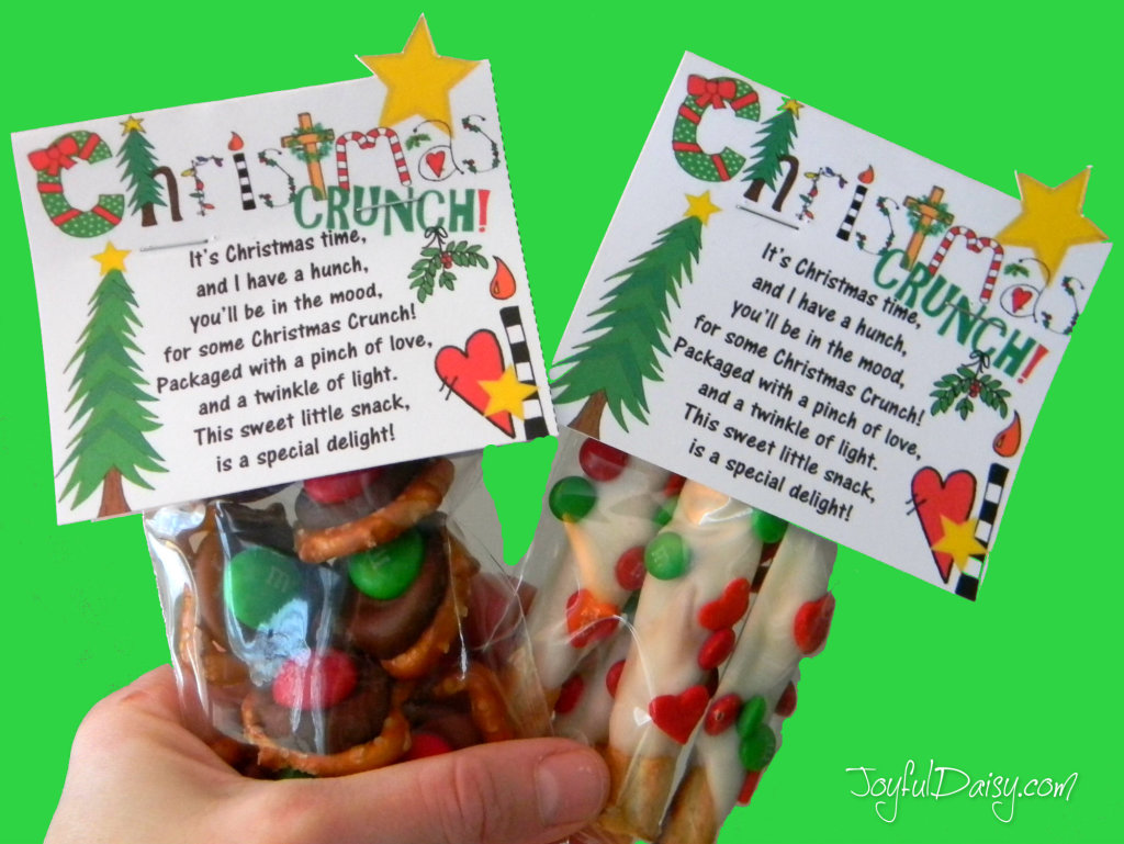 Poems About Christmas Time.Christmas Crunch Poem Chocolate Covered Pretzel Snack